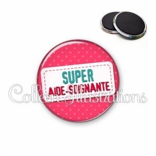 Magnet 56mm Super aide-soignante (003ROS08)