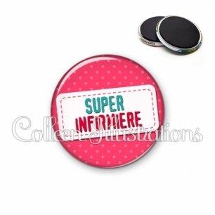 Magnet 56mm Super infirmière (003ROS08)