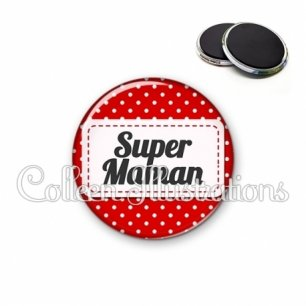 Magnet 56mm Super maman (003ROU01)