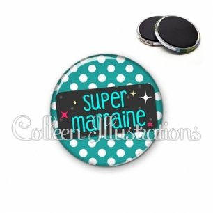 Magnet 56mm Super marraine (003VER02)