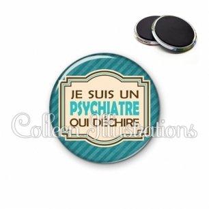Magnet 56mm Psychiatre qui déchire (004BLE01)