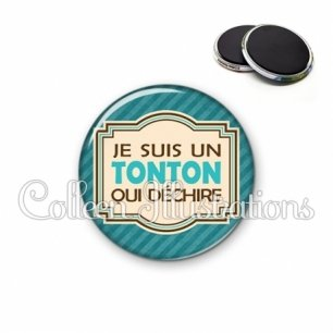 Magnet 56mm Tonton qui déchire (004BLE01)