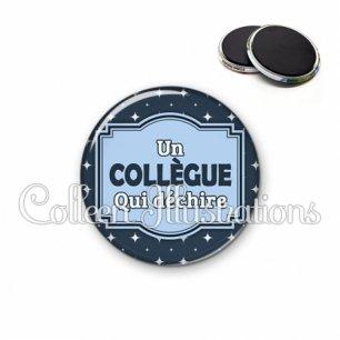 Magnet 56mm Collègue qui déchire (004BLE02)