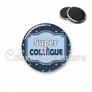 Magnet 56mm Super collègue (004BLE02)