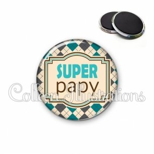 Magnet 56mm Super papy (004MUL01)