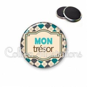 Magnet 56mm Mon trésor (004MUL01)