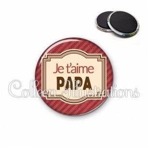 Magnet 56mm Papa je t'aime (004ROU01)
