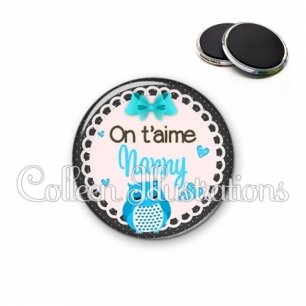 Magnet 56mm Nanny on t'aime (005BLE01)