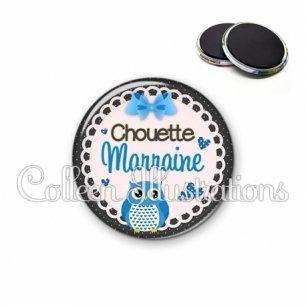 Magnet 56mm Chouette marraine (005BLE02)