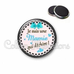 Magnet 56mm Mamie qui déchire (005BLE06)
