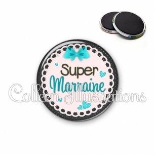 Magnet 56mm Super marraine (005BLE06)