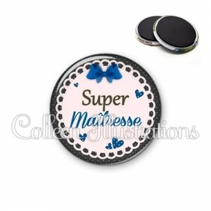 Magnet 56mm Super maîtresse (005BLE07)