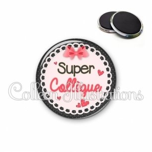 Magnet 56mm Super collègue (005ROS01)