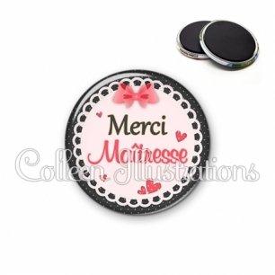 Magnet 56mm Merci maîtresse (005ROS01)