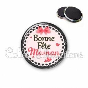 Magnet 56mm Bonne fête maman (005ROS01)