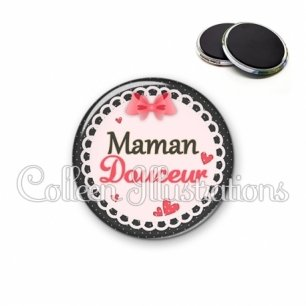 Magnet 56mm Maman douceur (005ROS01)