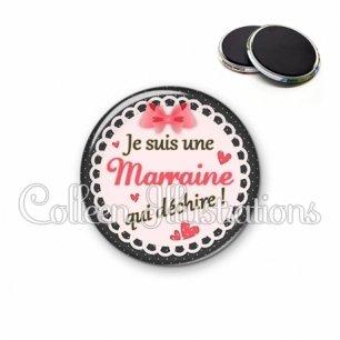 Magnet 56mm Marraine qui déchire (005ROS01)