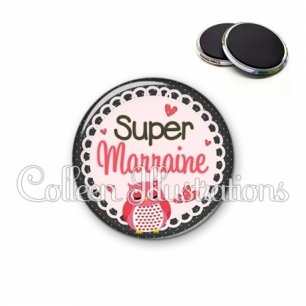 Magnet 56mm Super marraine (005ROS02)
