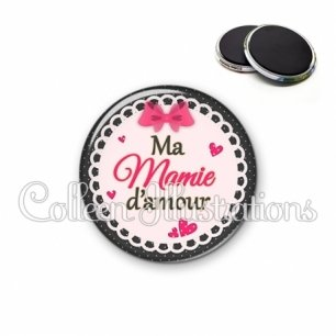 Magnet 56mm Ma mamie d'amour (005ROS04)