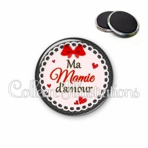 Magnet 56mm Mamie d'amour (005ROU01)