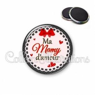 Magnet 56mm Mamy d'amour (005ROU01)