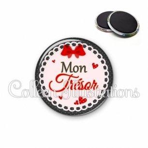 Magnet 56mm Mon trésor (005ROU01)
