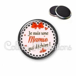 Magnet 56mm Mamie qui déchire (005ROU05)