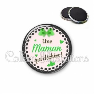 Magnet 56mm Maman qui déchire (005VER01)