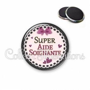 Magnet 56mm Super aide-soignante (005VIO01)