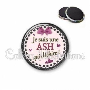Magnet 56mm ASH qui déchire (005VIO01)