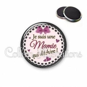 Magnet 56mm Mamie qui déchire (005VIO01)