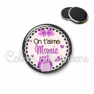 Magnet 56mm On t'aime mamie (005VIO02)