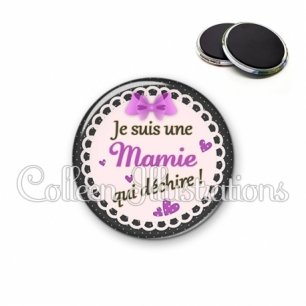 Magnet 56mm Mamie qui déchire (005VIO03)
