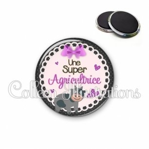 Magnet 56mm Super agricultrice (005VIO05)