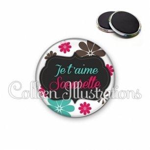 Magnet 56mm Soeurette je t'aime (006BLA02)