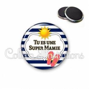 Magnet 56mm Tu es une super mamie (006BLA07)