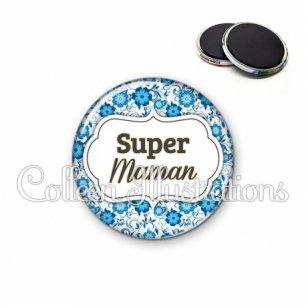 Magnet 56mm Super maman (006BLE02)