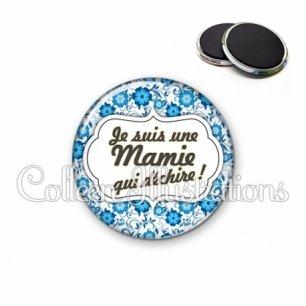 Magnet 56mm Maman qui déchire (006BLE02)