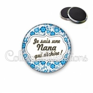 Magnet 56mm Nana qui déchire (006BLE02)