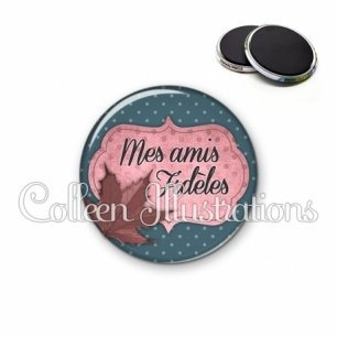 Magnet 56mm Mes amis fidèles (006BLE03)