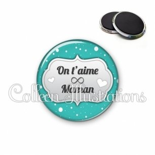 Magnet 56mm Maman on t'aime (006BLE05)