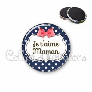 Magnet 56mm Maman je t'aime (006BLE06)