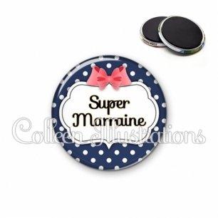 Magnet 56mm Super marraine (006BLE06)