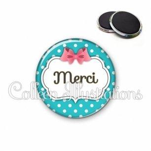 Magnet 56mm Remerciements merci (006BLE07)