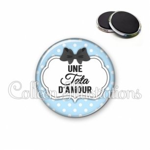 Magnet 56mm Tata d'amour (006BLE08)