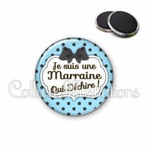 Magnet 56mm Marraine qui déchire (006BLE10)