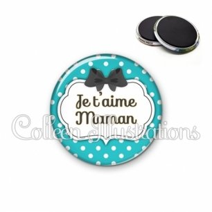 Magnet 56mm Maman je t'aime (006BLE14)