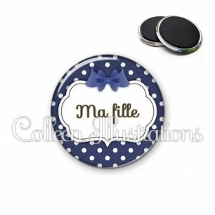 Magnet 56mm Ma fille (006BLE15)