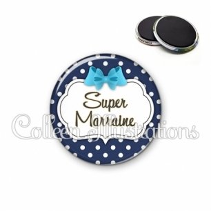 Magnet 56mm Super marraine (006BLE16)