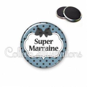 Magnet 56mm Super marraine (006BLE25)